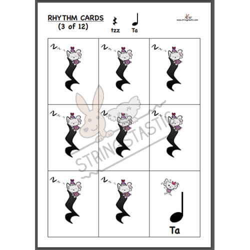 Teachers Edition Rhythm Card - Hungarian